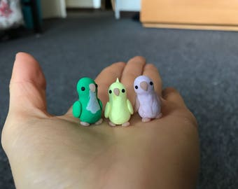 Mini Polymer Clay Birds
