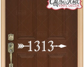 Arrow House Numbers Front Door Vinyl Decal Sticker