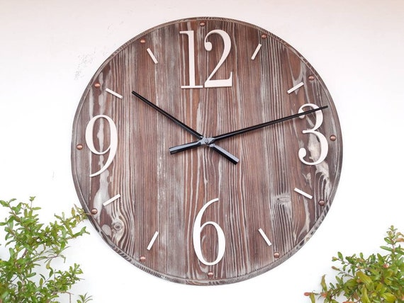 20 Inch Large Wall Clock Wall Decor Rustic Wall Clock For