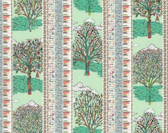 Fat quarter Forest Stripe B Liberty print, forest and colouring pencil design Liberty of London tana lawn