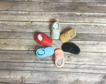 Sale Baby leather Moccasins Baby Moccs Moccs Moccasin Shoes Baby Shoes Soft Soled Shoes Crib Shoes Moccasins