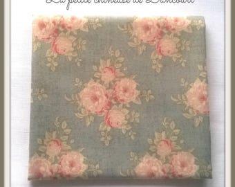 Ella blue grey Tilda fabric coupon