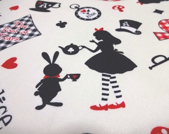 SALE Japanese Fabric LECIEN Girl's Story Alice Ivory Fat Quarter
