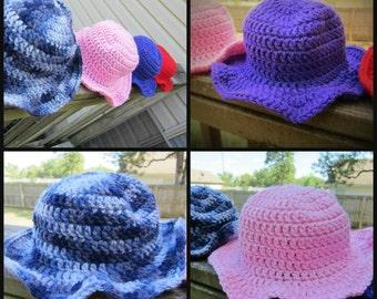 DIY Baby Sun Hat Pattern, Toddler, PDF Digital Instant Download Pattern, Crochet Hat Pattern, DYI Crochet Hat