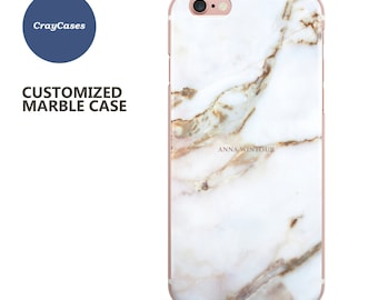 personalised iphone 6 case marble