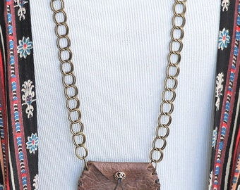 Amulet Bag Brown Leather
