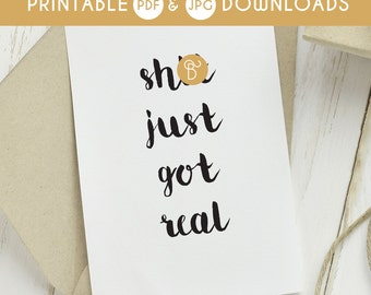 funny wedding card, printable wedding card, congrats wedding card, naughty wedding card, wedding cards, shit just got real