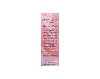 Marveled Pink Wedding Bookmark Favors - Thank You Bookmarks - Pink Bookmarks (50 minimum.)