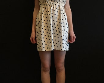 Summer  sleeveless dress -Polka Dot- 100% Cotton! Handmade! in a single copy!