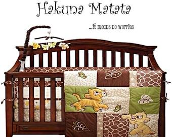 Lion king nursery, lion king wall decal, lion king wall art, hakuna matata, baby boy nursery, nursery wall decal, nursery wall art