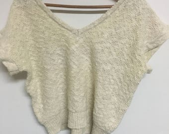 70's vintage cropped sweater