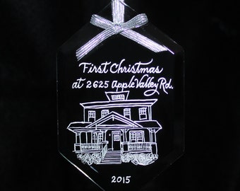 Ornament, House Warming First Christmas in New Home, Custom Engraved