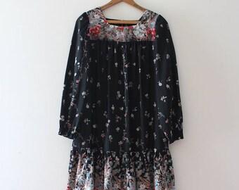 vintage 1970s dress // 70s floral dress
