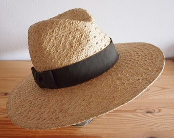 Straw hat, Trilby, natural-Olive