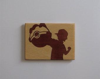 Wooden fridge magnet, fridge magnet,  kitchen decor