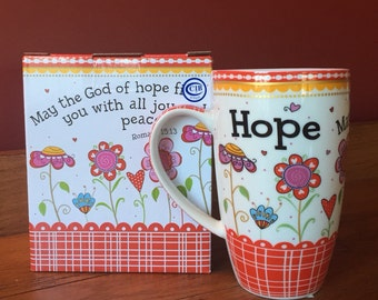 Soy Candle in Burton and Burton Hope Ceramic Scripture Mug Hand Poured & Highly Scented Eco Friendly, Clean, Long Burning, You Choose Scent