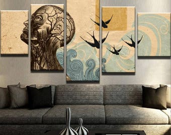 Abstract Thoughts Canvas Set Abstract Wall Decor Abstract Canvas Set Abstract Wall Print Animal Canvas Set Inspirational Canvas Set