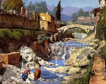 Washerwoman. Italy, San Remo.