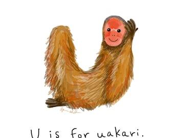 U is for Uakari Print