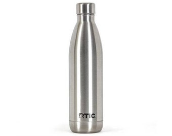 Laser Engraved RTIC 25 oz. Stainless Steel Vacuum Insulated Water Bottle/ Custom RTIC