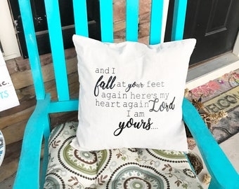 Pillow cover christian song bible verse