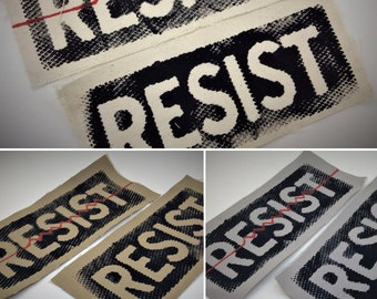 Resist,resist back patch,patches for jackets,political patch,political patches,resist patch,punk patches,canvas patch,punk patch,anti trump