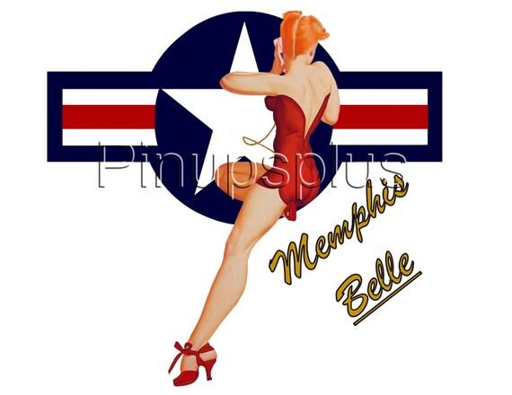Hawaiian WWII Pin-up Girl Bomber Art Guitar Decals #8 [8