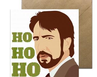 Funny Die Hard Christmas Card • Die Hard Holidays Card • Funny Die Hard Xmas Card • Hans Gruber Card • Alan Rickman Christmas