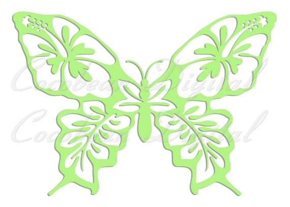Schmetterling Papier Svg-Datei Dxf-Datei Schnitt-Vorlage
