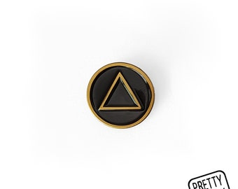 Alchemy Element Pin [FIRE] Enamel Pin / Soft Enamel Pin / Lapel Pin / Punk Pin / Pin Badge / Occult Pin