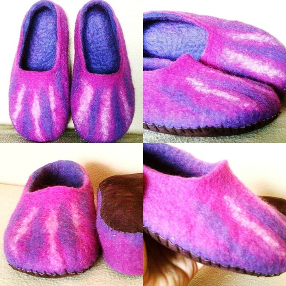 wool handmade slippers gift women slippers felt Felted house slippers slippers slippers men slippers idea shoes green wool Rqqw801