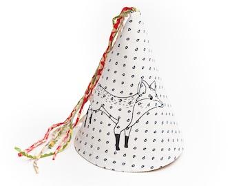 Tela de la impresión partido sombrero de zorro