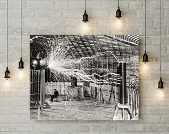 Tesla Poster, Nikola Tesla, Inventor, Engineer, Physics Art, Science Art Poster, Wall Decor, Nikola Tesla Photo