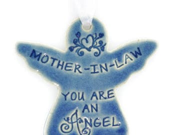 Christmas ornaments Christmas gift angel gifts Christmas gift for mother in law religious Christmas ornament holiday gift Mother-In-Law gift