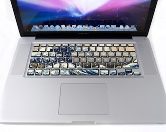 Wave keyboard for MacBook stickers
