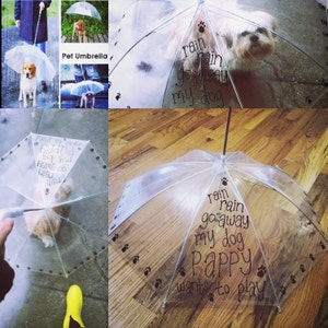 Dog Umbrella. Pet Umbrella. Custom Umbrellas
