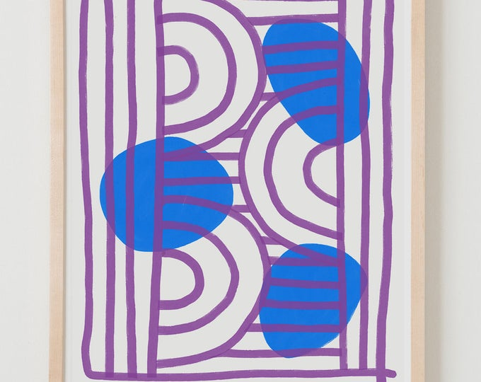 Fine Art Print.  Abstract Purple and Blue, December 20, 2017.