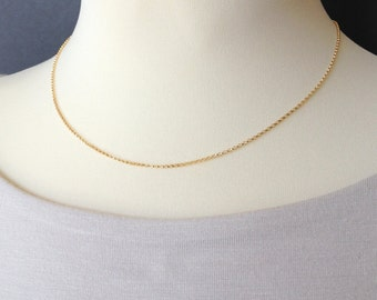 Gold Filled Chain, ROLO Chain, Delicate Gold Chain, Dainty Chain, Layering Pieces, Layered Necklace, Gift, Gold Chains, Simple Necklace 435