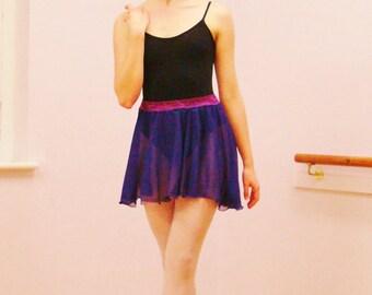 Chiffon Ballet Skirt with Lace Belt