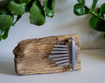 Driftwood Kalimba / 7 reeds / hand made / one of a kind / thumb piano
