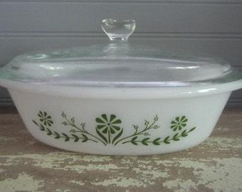 Vintage Glassbake Oval Casserole Dish With Lid Vintage Kitchen