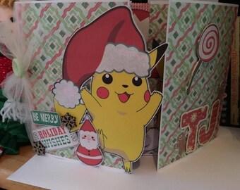 Pikachu Christmas card/Pokemon christmas card