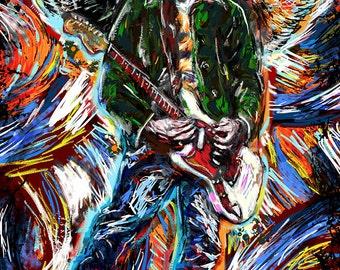 Kurt Cobain Art, Nirvana Painting, Cobain Artwork