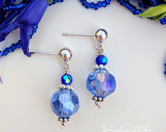Cobalt blue drop earrings