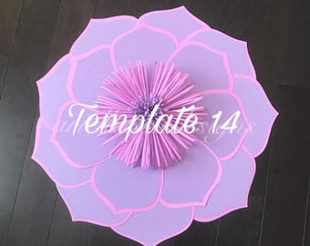 Hard Copy Template 14 Large Paper Flower