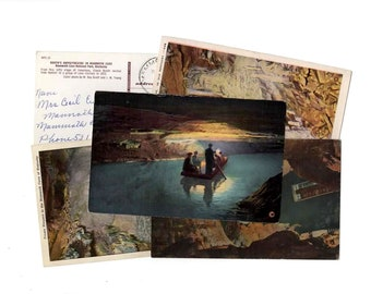 5 Vintage Mammoth Cave Kentucky Postcards Used