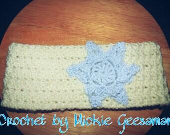 Crochet Snowflake headband.