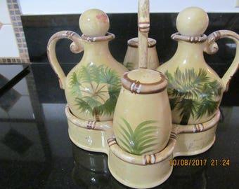 Vintage Hawaiian Cruet set with Caddy from Marianne of Maui