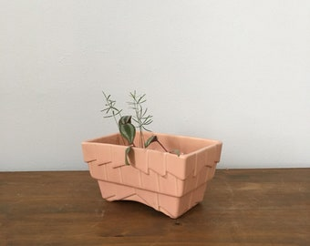 art deco style blush pink planter
