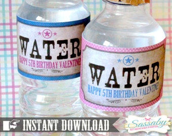 Cowgirl Water Bottle Labels - INSTANT DOWNLOAD - Editable & Printable Birthday Party Decorations by Sassaby